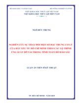 Nghiên cứu sự thay đổi một số đặc trưng cơ lý của đất yếu TP. Hồ Chí Minh theo các lộ trình ứng suất dỡ tải trong tính toán hố đào sâu / Ngô Đức Trung  ; Người hướng dẫn khoa học : Võ Phán, Trần Thị Thanh