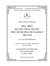 Phát triển quỹ hưu trí tự nguyện trên thị trường chứng khoán Việt Nam / Trần Nguyễn Minh Hải ; Người hướng dẫn khoa học : Lê Thị Thanh Hà, Trần Thị Kỳ