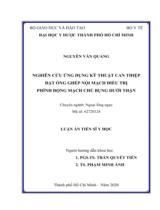 Nghiên cứu ứng dụng kỹ thuật can thiệp đặt ống ghép nội mạch điều trị phình động mạch chủ bụng dưới thận / Nguyễn Văn Quảng ; Người hướng dẫn khoa học : Trần Quyết Tiến, Phạm Minh Ánh
