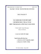 Xác định độ tuổi phù hợp chỉ định phẫu thuật Nuss điều trị dị dạng lõm ngực bẩm sinh / Trần Thanh Vỹ ; Người hướng dẫn khoa học : Lê Nữ Thị Hòa Hiệp, Vũ Hữu Vĩnh