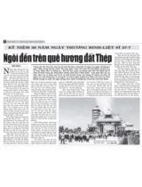 Ngôi đền trên quê hương đất Thép: Kỷ niệm 56 năm ngày Thương binh liệt sĩ 27-7 / Hữu Mạo