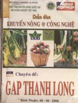 Diễn đàn khuyến nông @ công nghệ chuyên đề GAP Thanh Long