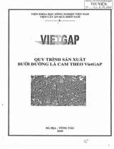 VIETGAP: Qui trình sản xuất bưởi đường lá cam theo VietGAP