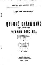 Qui chế chánh đảng hiện hành tại Việt Nam Cộng hòa : luận văn Tốt nghiệp / Nguyễn Đình Hồng ; Giáo sư hướng dẫn : Đào Quang Huy