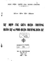 Sự hợp tác giữa Quận trưởng quân sự và phó Quận trưởng dân sự : luận văn Tốt nghiệp / Lâm Tuấn Anh ; Giáo sư hướng dẫn : Lương Thọ Phát