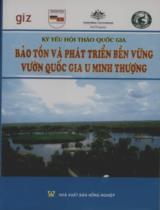 Bảo tồn và phát triển bền vững vườn quốc gia U Minh Thượng : Kỷ yếu hội thảo quốc gia