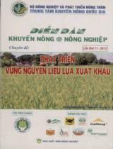 Phát triển vùng nguyên liệu lúa xuất khẩu : Diễn đàn khuyến nông @ nông nghiệp lần thứ 11 - 2013