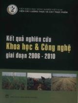 Kết quả nghiên cứu khoa học và công nghệ giai đoạn 2006 - 2010