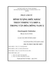 Hình tượng điêu khắc thần Vishnu và Shiva trong văn hóa Đông Nam Á / Phan Anh Tú ; Người hướng dẫn khoa học : Phan Thị Thu Hiền