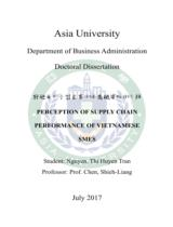 Perception of supply chain perfprmance of Vietnamese SMES / Nguyễn Thị Huyền Trân