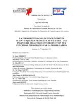 La periodicite dans les enseignements scientifiques en France et au Viet Nam : une ingenierie didactique d'introduction aux fonctions periodiques par la modelisation