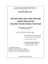 Văn hóa Bách Việt vùng Lĩnh Nam trong quan hệ với văn hóa truyền thống ở Việt Nam