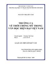 Trường ca về thời chống Mỹ trong văn học hiện đại Việt Nam / Nguyễn Thị Liên Tâm ; Người hướng dẫn khoa học : Phùng Quý Nhâm