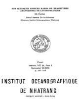 Sur quelques especes rares de brachyures (leucosidae) de l'Indo-Pacifique / Raoul Serene