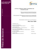 An Essay on human capital accumulation and economic growth / Tran Nhat Thien