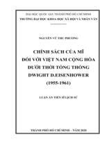 Chính sách của Mĩ đối với Việt Nam Cộng hòa dưới thời Tổng thống Dwight D. Eisenhower (1955-1961)