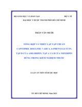 Tổng hợp và thiết lập tạp chuẩn captopril disulfid, 7-ADCA, D-phenylglycin, tạp D của amlodipin, tạp A và B của nifedipin dùng trong kiểm nghiệm thuốc / Trần Văn Mười ; Người hướng dẫn khoa học : Nguyễn Đức Tuấn, Đặng Văn Tịnh