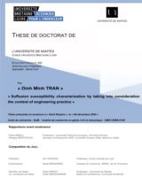 Suffusion susceptibility characterization by taking into consideration the context of engineering practice / Trần Đình Minh